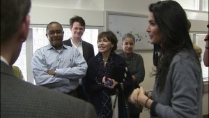 Angie Harmon spoke to Charlotte City Council urging them to approve the proposed plan to build a new production studio at the Eastland Mall site. (photo: WSOC)