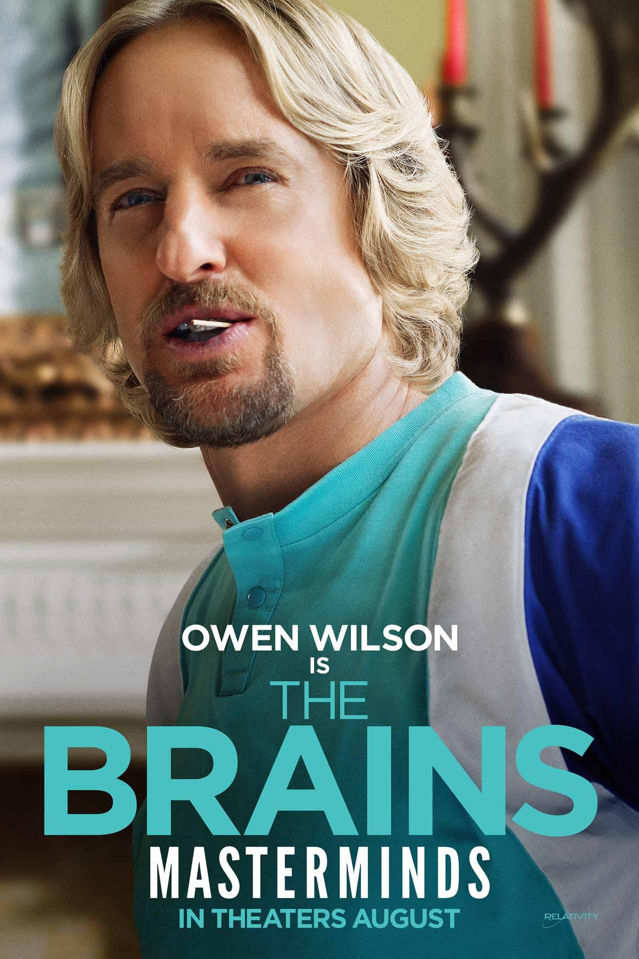 Masterminds Owen Wilson poster