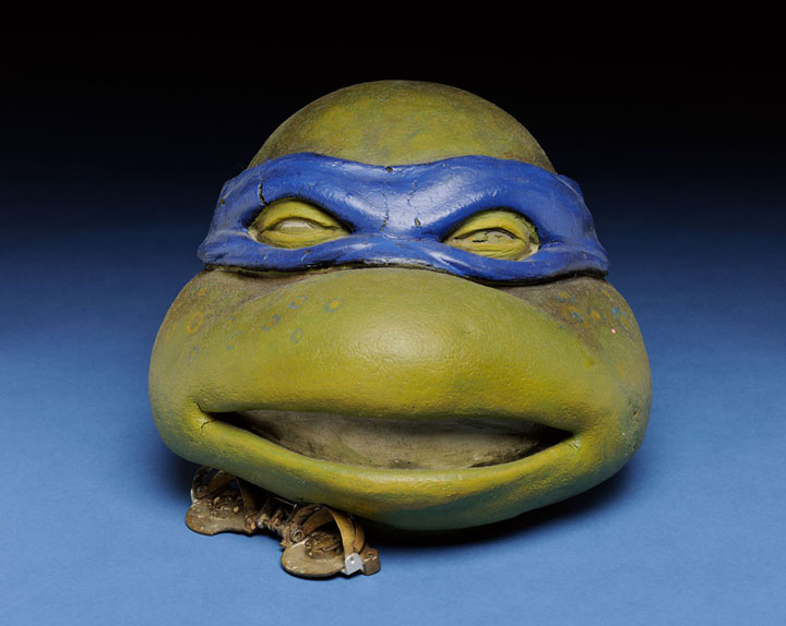 Animatronic mask used in filming Teenage Mutant Ninja Turtles, 1989, filmed in Wilmington, North Carolina.