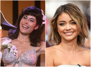 Lisa - Jane Brucker (1987) and Sarah Hyland (2016)
