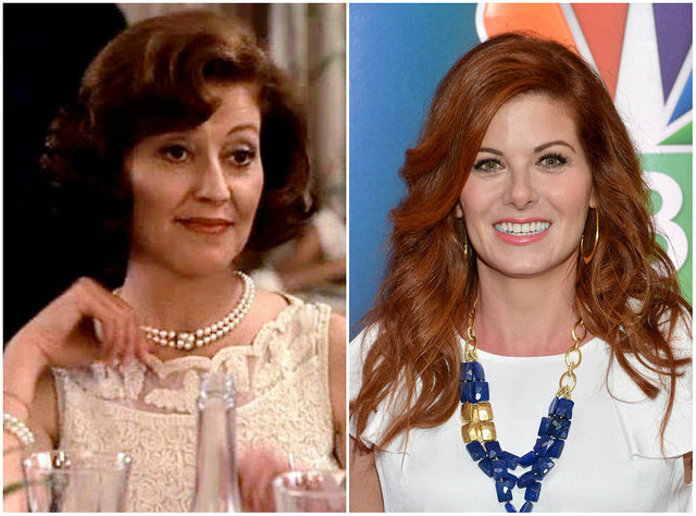 Marjorie Houseman - Kelly Bishop (1987) and Debra Messing (2016)